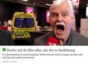 Stemmeekspert Klaus Møller i TV2 Sporten