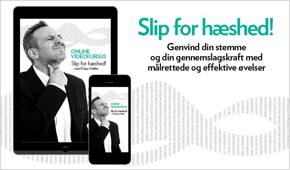 Har du mistet stemmen? Online kursus - Slip for hæshed. Produktbillede. Stemmetræner Klaus Møller.