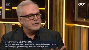 Stemmetræner Klaus Møller i Go' Aften Danmark. voicestudio.dk