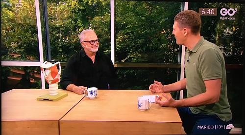 Stemmecoach Klaus Møller i Go Morgen Danmark juli 2019