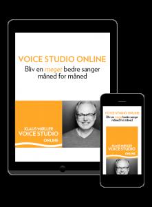Logo Voice Studio Online. Sangundervisning m sangcoach KLaus Møller
