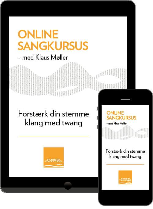 Produktbillede: Online sangkursus med Klaus Møller. forstærk klan med twang.
