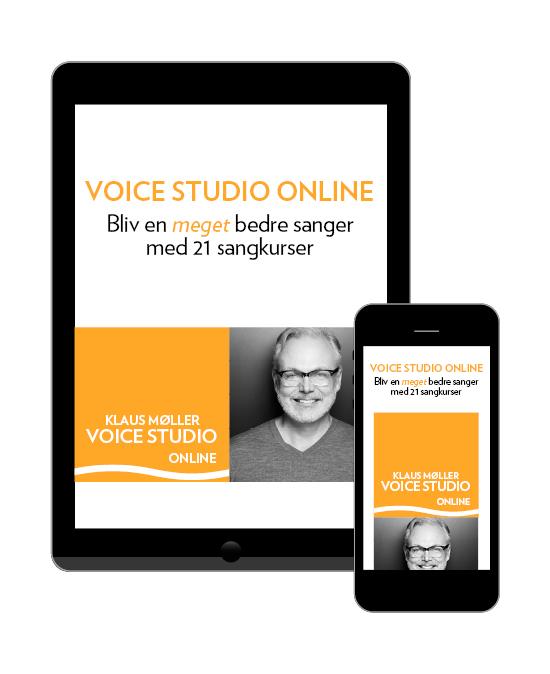 Voice Studio Online - sangundervisning logo. Sangcoach Klaus Møller. voicestudio.dk
